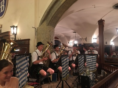 Oompah band in the Hofbrauhaus