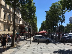 On the Champs Elysees