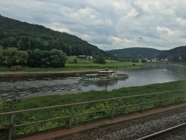 Along the Elbe river