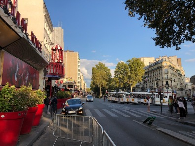 Outside the Moulin Rouge