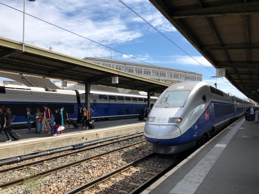 My TGV eventually arrives