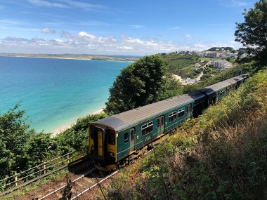 Branch line train at Carbis Bay