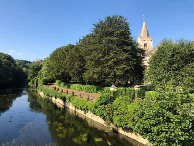 Church next to the Avon