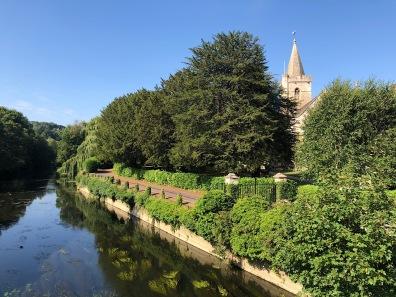Church next to the Avon