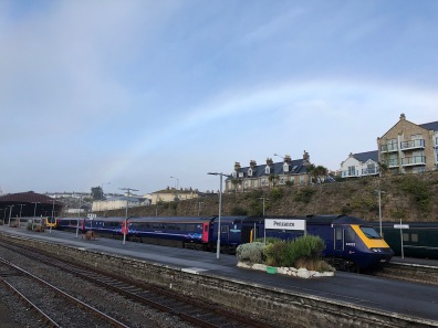 Rainbow at Penzance station