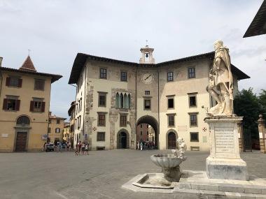 A piazza in Pisa