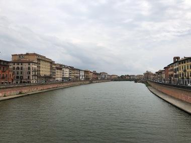 Bridge over the river in Pisa